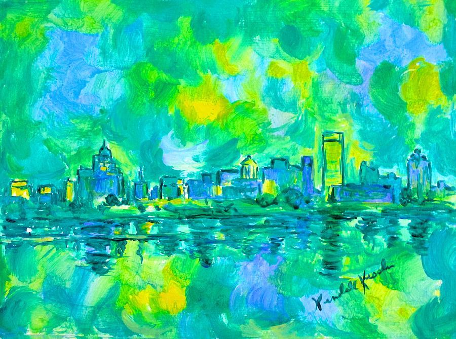 Memphis Painting - Memphis Green by Kendall Kessler