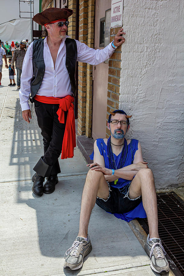 Mermaid Parade Coney Island NYC 6_22_2019 Waiting for the Parade by Robert Ullmann