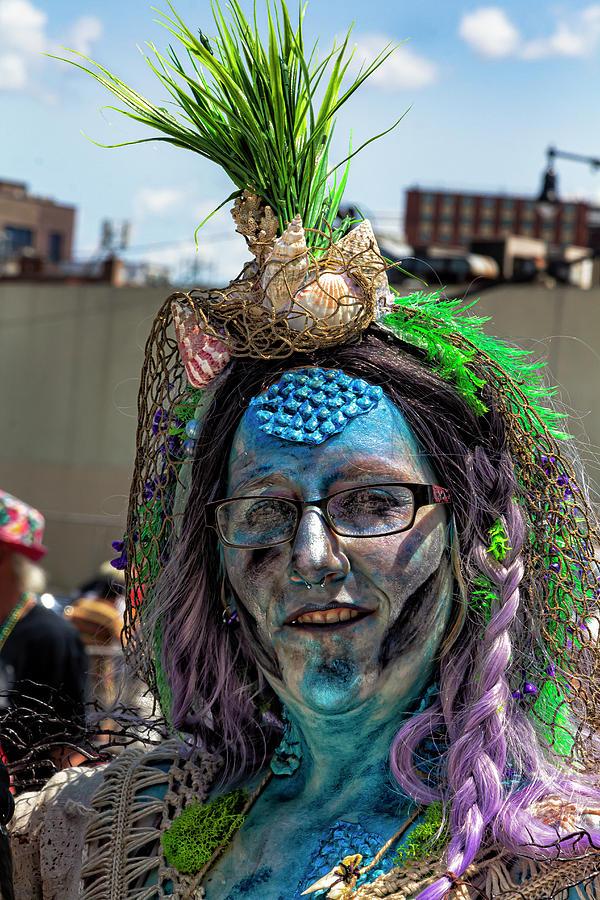 Mermaid Parade Coney Island NYC 6_22_2019 Woman in Mermaid Costu by Robert Ullmann