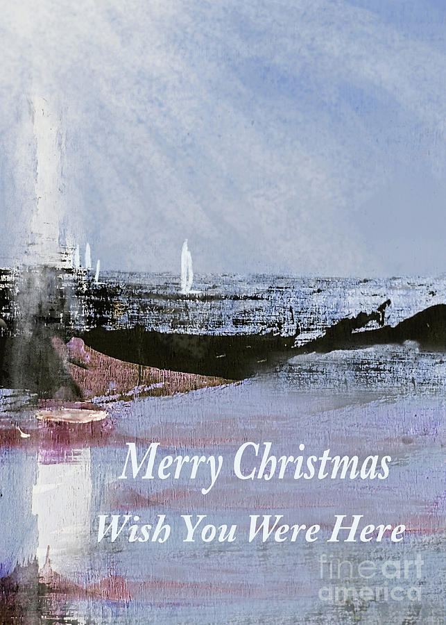 Merry Christmas From The Beach Sunshine Sail 300 Painting