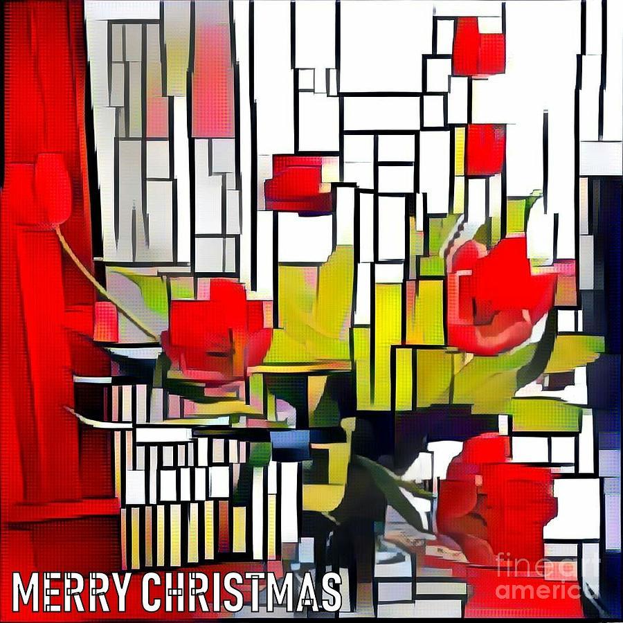 MERRY CHRISTMAS RED by Jodie Marie Anne Richardson Traugott          aka jm-ART