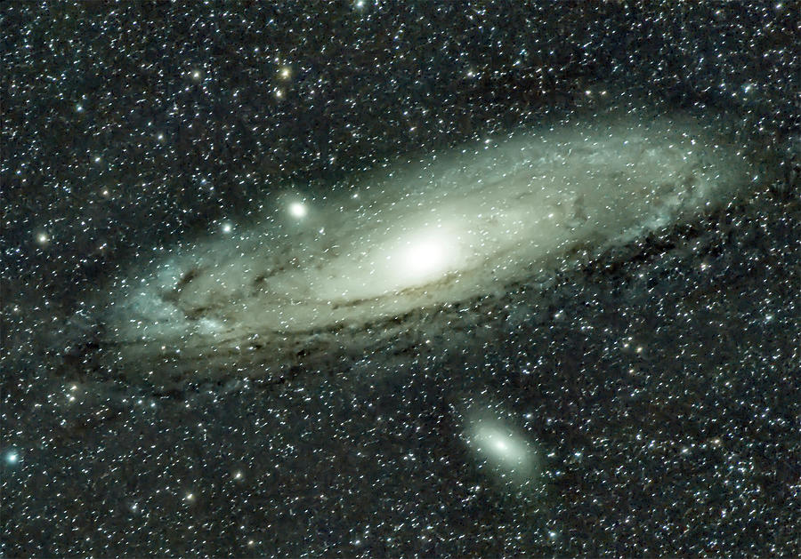 Space Photograph - Messier 31, Andromeda Galaxy by Nunzio Mannino