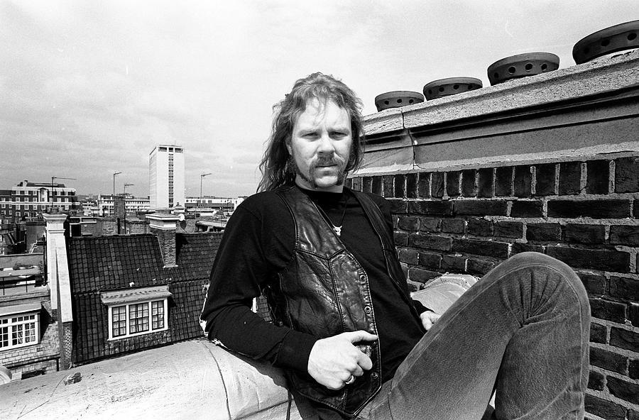 Metallica James Hetfield London April Photograph by Martyn Goodacre