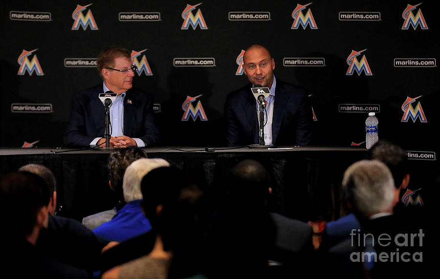 Miami Marlins Press Conference Photograph by Mike Ehrmann