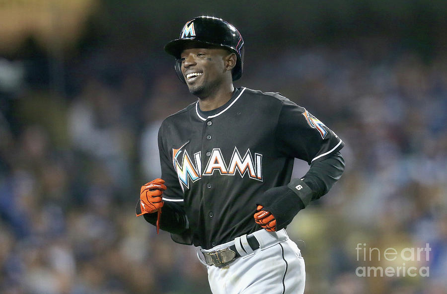 Miami Marlins V Los Angeles Dodgers 1 Photograph by Stephen Dunn
