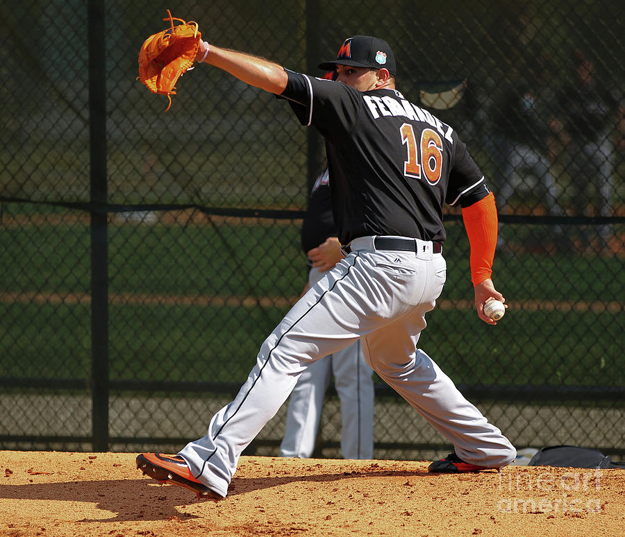 Miami Marlins Workout Photograph by Rob Foldy