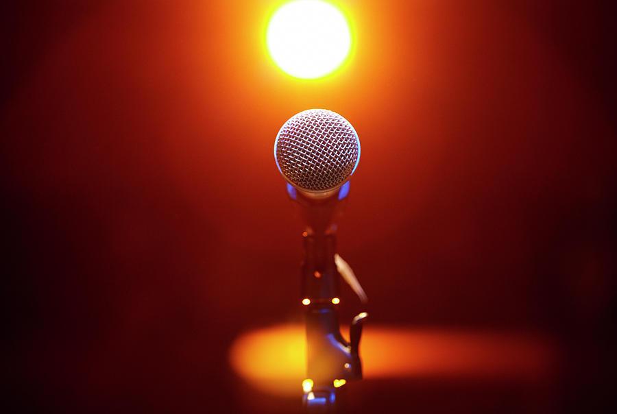 Microphone At A Concert Photograph by Henrik Sorensen