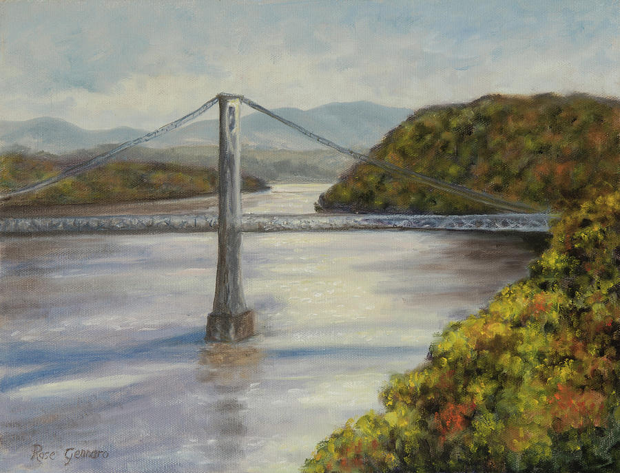 Walkway Over The Hudson Painting - Mid Hudson Bridge from Walkway Over the Hudson by Rose Gennaro