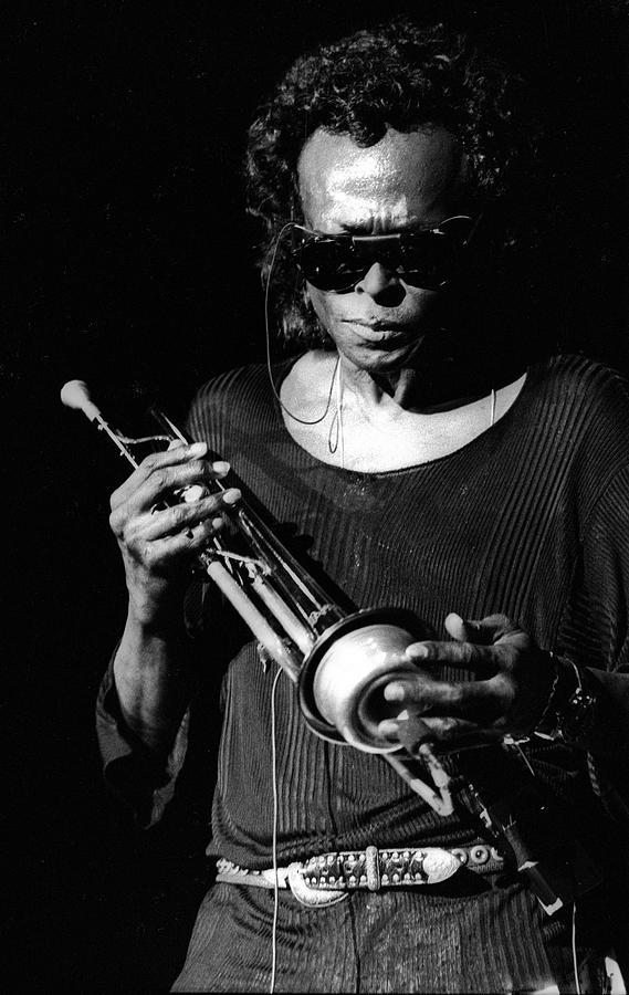 Miles Davis Live At North Sea Jazz Photograph by Paul Bergen