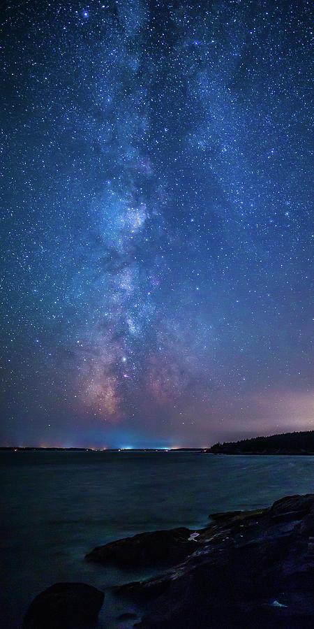 Milky Way over Mount Desert Island by Stefan Mazzola