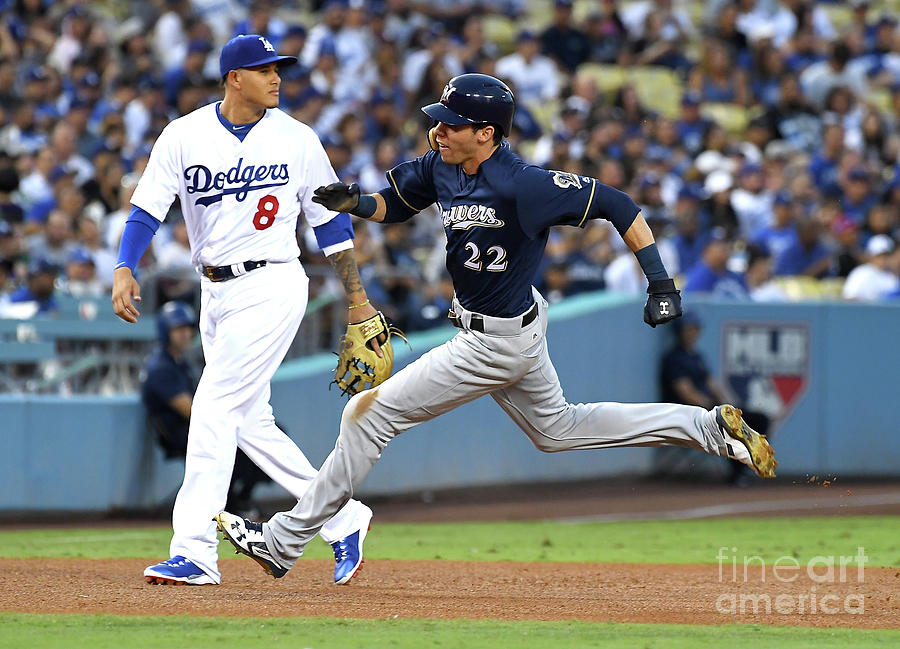 Milwaukee Brewers V Los Angeles Dodgers Photograph by Jayne Kamin-oncea