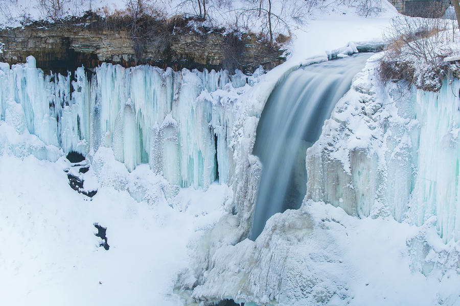 Minnehaha Falls in the winter by Jay Smith