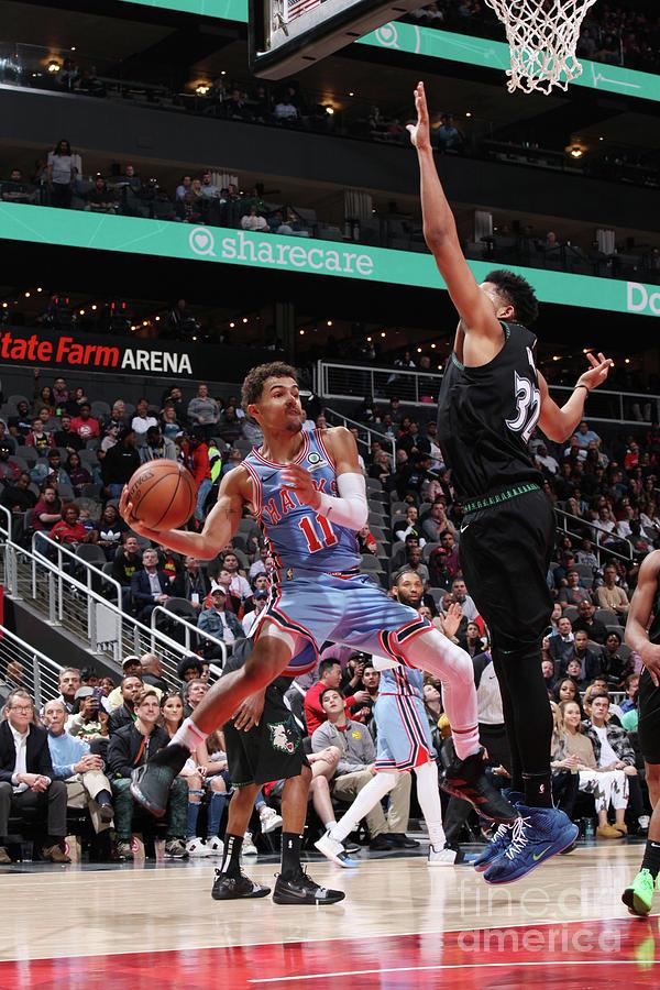 Minnesota Timberwolves V Atlanta Hawks Photograph by Jasear Thompson