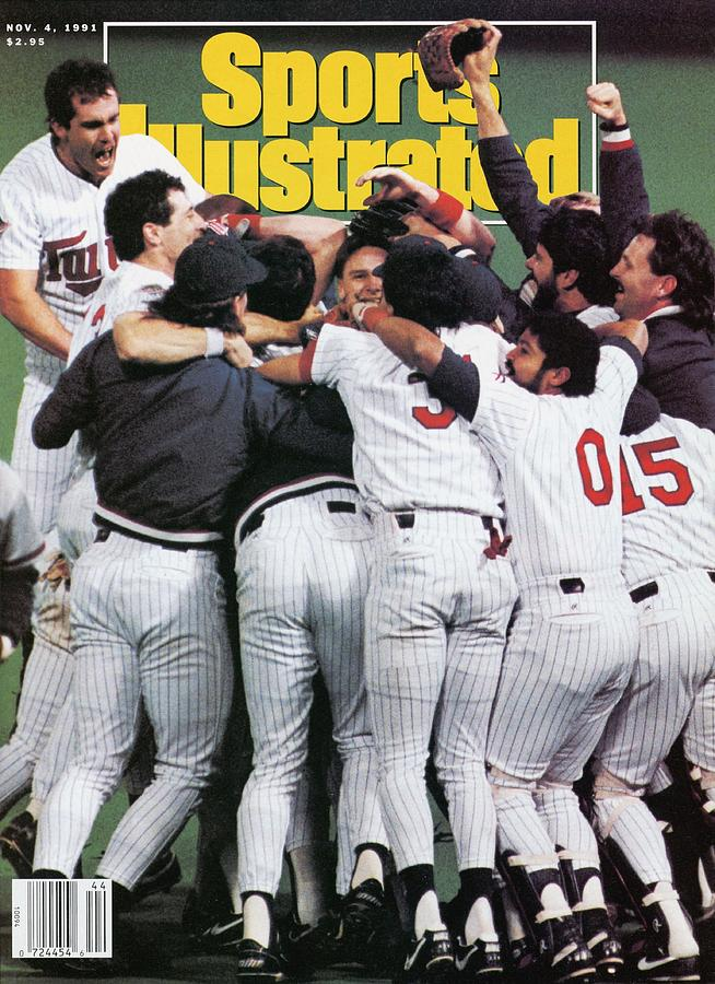 Minnesota Twins, 1991 World Series Sports Illustrated Cover Photograph by Sports Illustrated