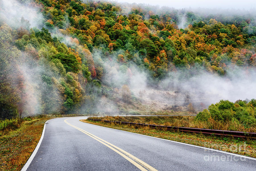 Mist Highland Scenic Highway by Thomas R Fletcher