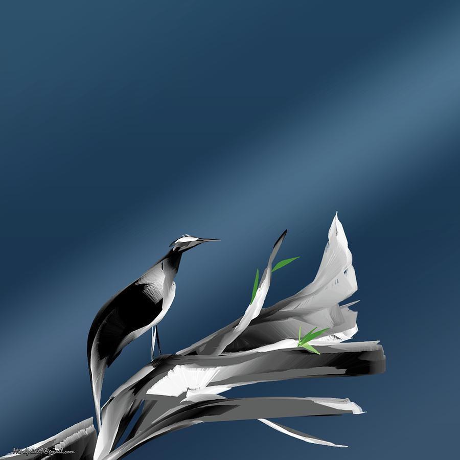 Morning Bird by Asok Mukhopadhyay