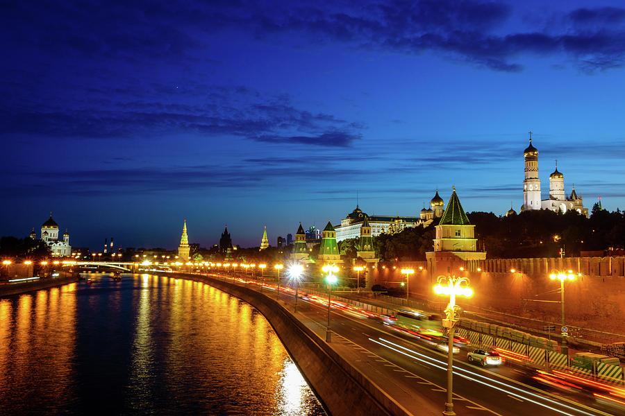 Moscow Kremlin After Sunset Photograph
