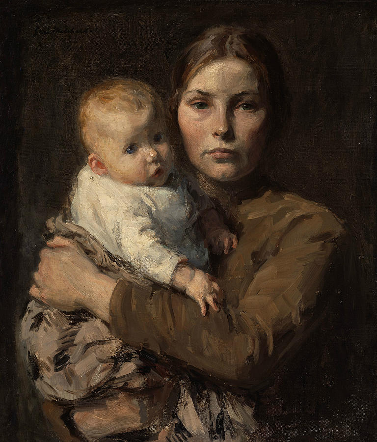 Mother And Child Painting - Mother And Child 1 by Gari Melchers