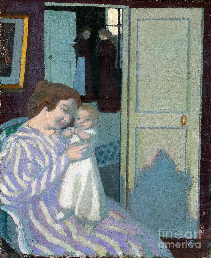 Mother And Child Drawing by Heritage Images