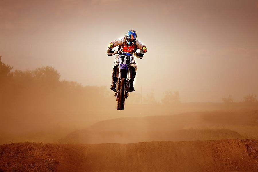 Motocross Rider Photograph by Design Pics