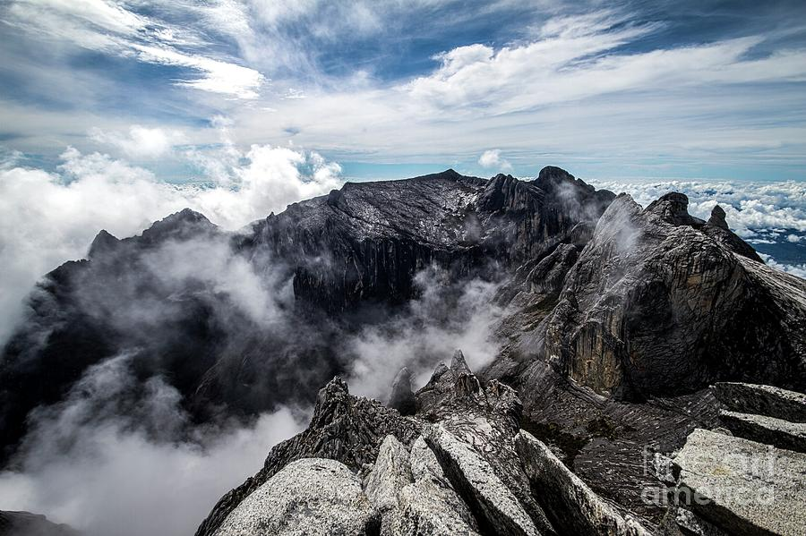 Peaks Photograph - Mount Kinabalu by Paul Williams/science Photo Library