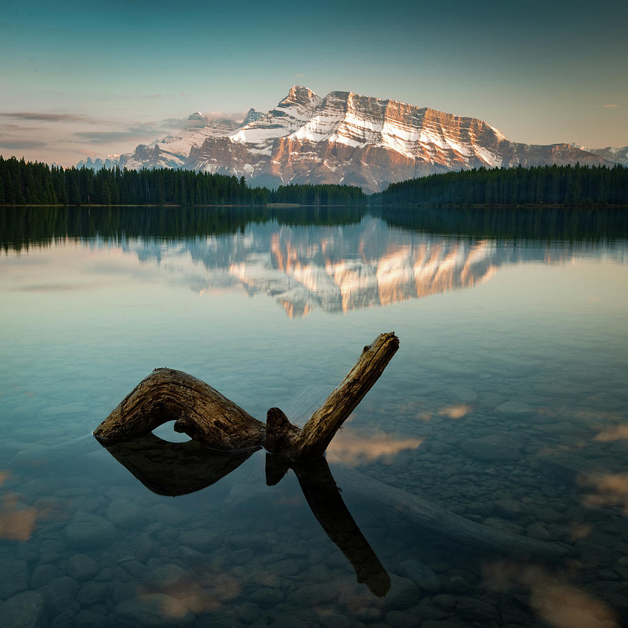 Mount Rundle and Two Jack Lake by Peter OReilly