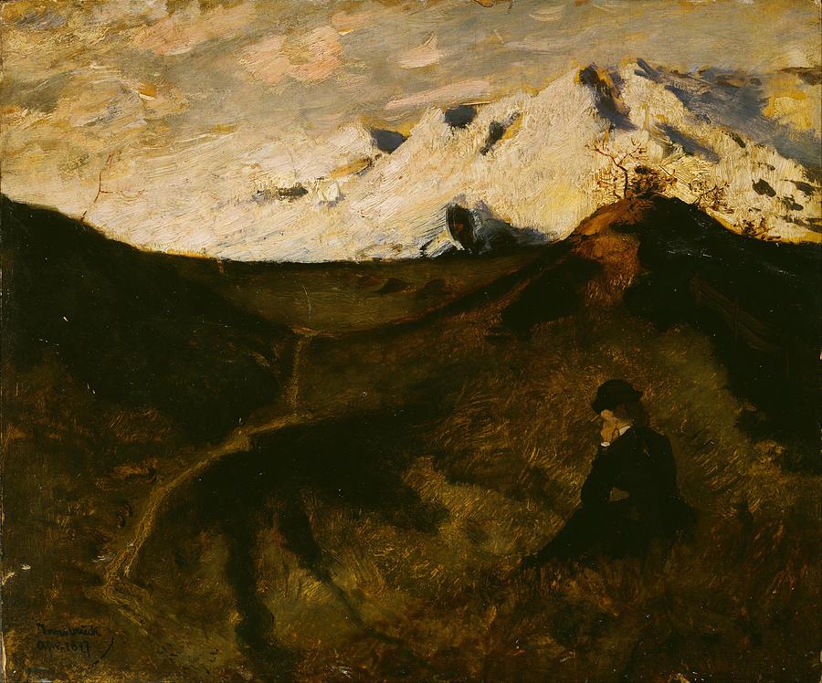 Eilif Peterssen Painting - Mountains Near Innsbruck  by Eilif Peterssen
