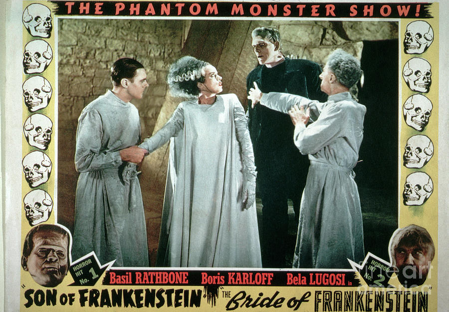 Movie Poster For Frankenstein Double Photograph by Bettmann