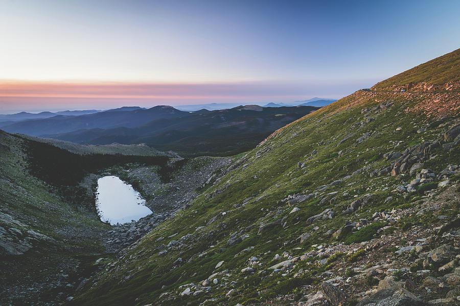 Mt Evans at dusk by Mati Krimerman