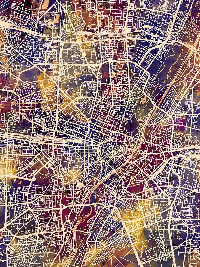 Munich Germany City Map