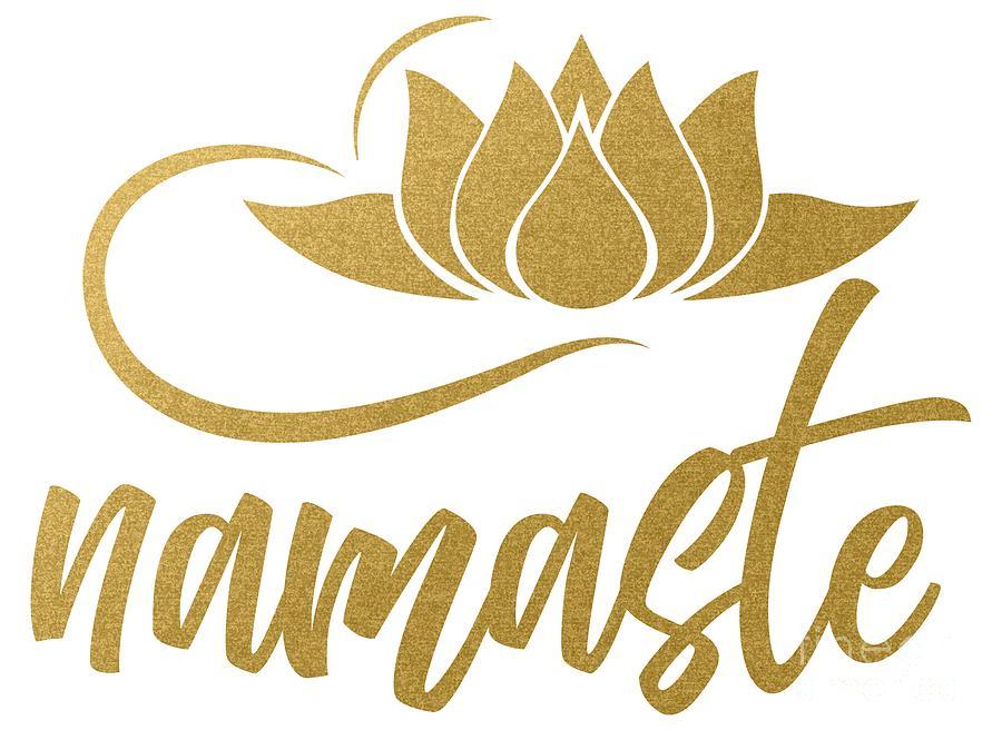 Namaste Lotus Flower Yoga Yoga Jogi Meditation Digital Art By Mister