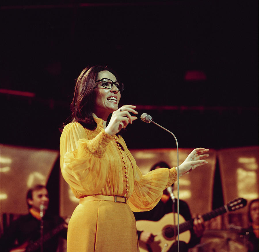 Nana Mouskouri Performs On Tv Show Photograph by Tony Russell