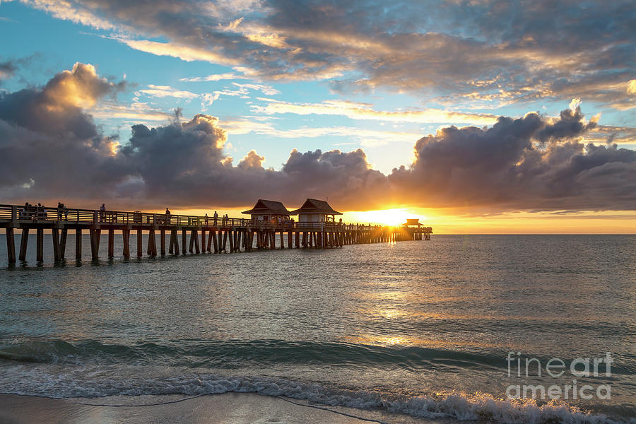 Naples Pier at Sunset II by Brian Jannsen