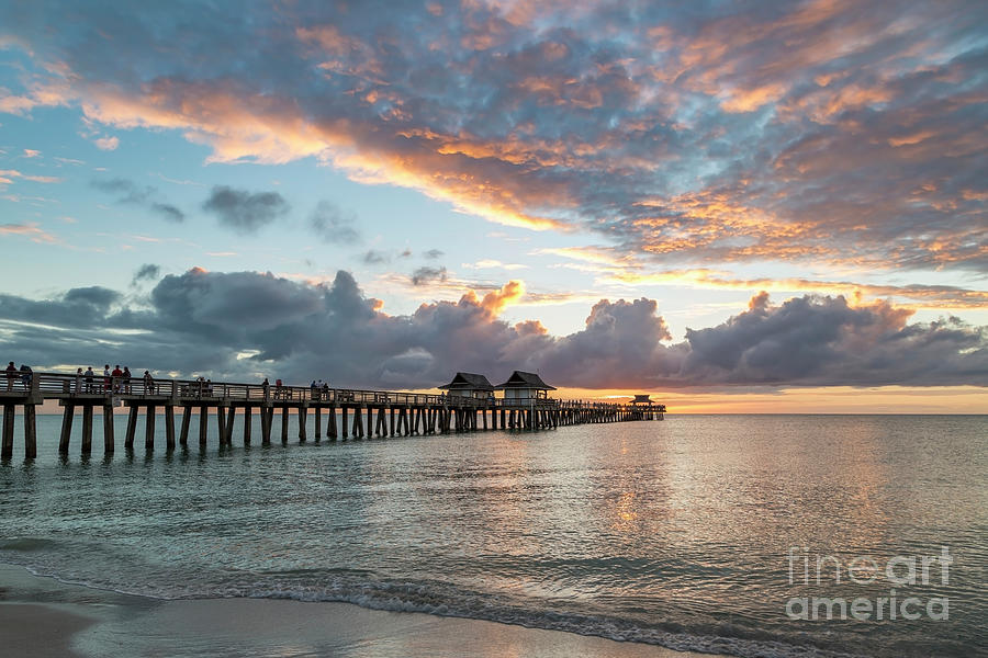Naples Pier at Sunset III by Brian Jannsen