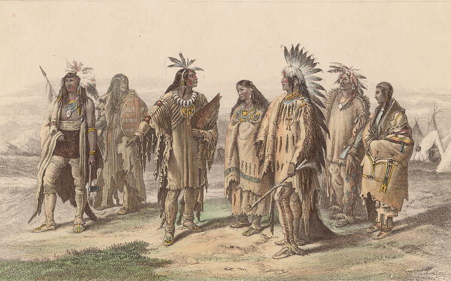 Native Americans Digital Art by Hulton Archive