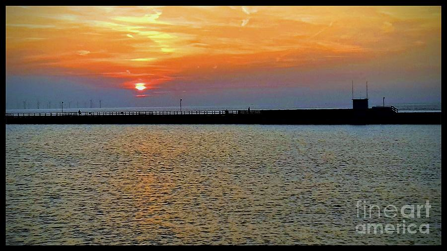 New Brighton Sunset by Joan-Violet Stretch