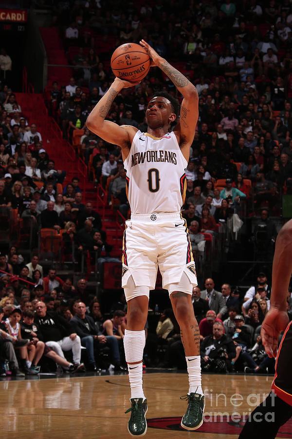 New Orleans Pelicans V Miami Heat Photograph by Issac Baldizon