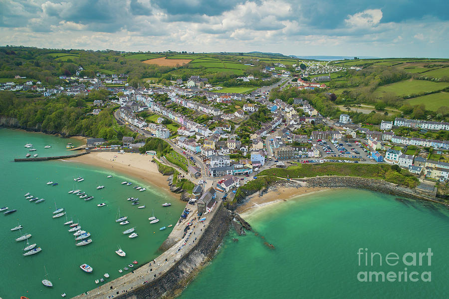 Caa Photograph - New Quay, Wales From The Air by Keith Morris