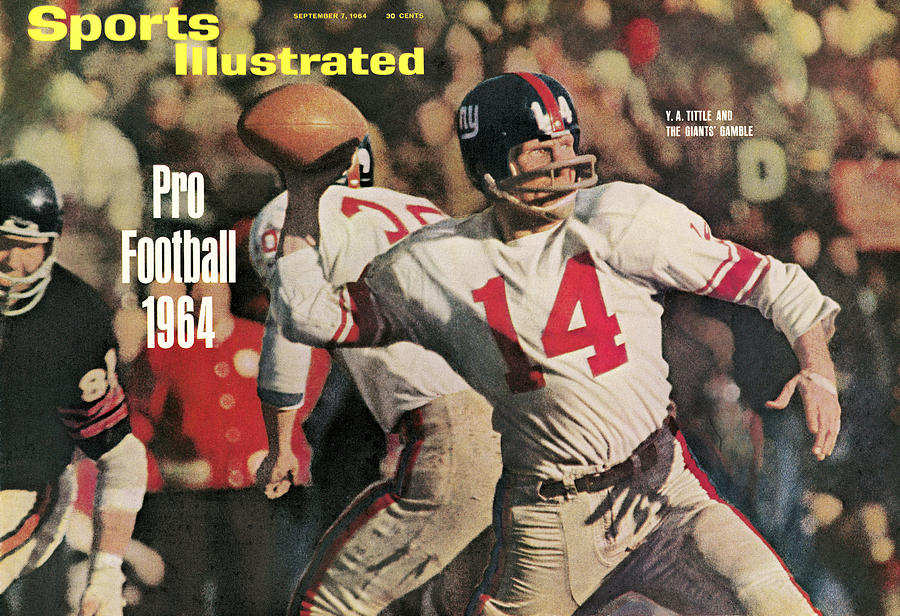New York Giants Qb Y.a. Tittle, 1963 Nfl Championship Sports Illustrated Cover Photograph by Sports Illustrated