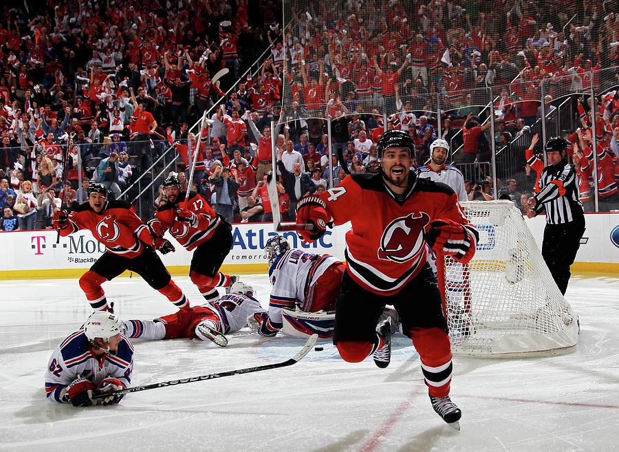 New York Rangers V New Jersey Devils - Photograph by Bruce Bennett