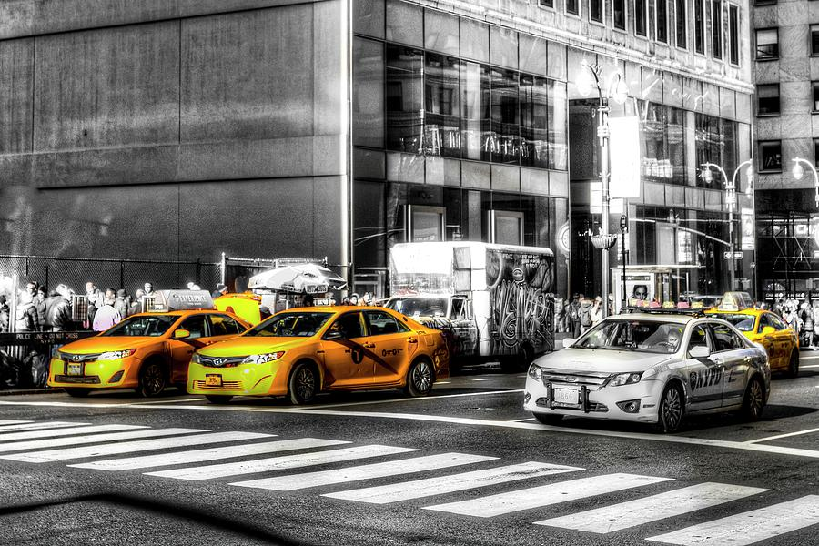 New York Taxis  by David Pyatt