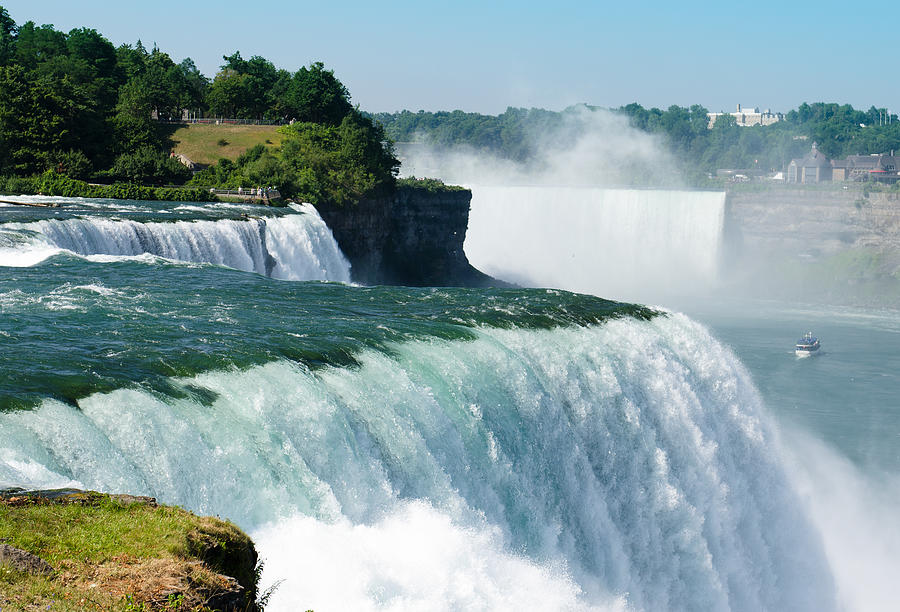 Niagara Falls From The Usa Side Photograph by Franckreporter
