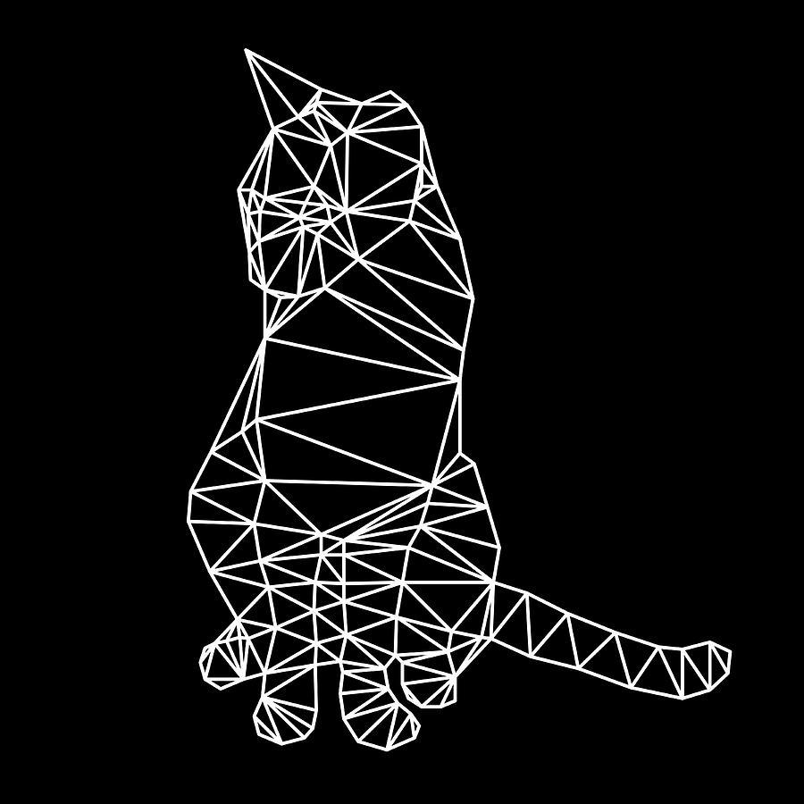 Cat Digital Art - Night Cat by Naxart Studio