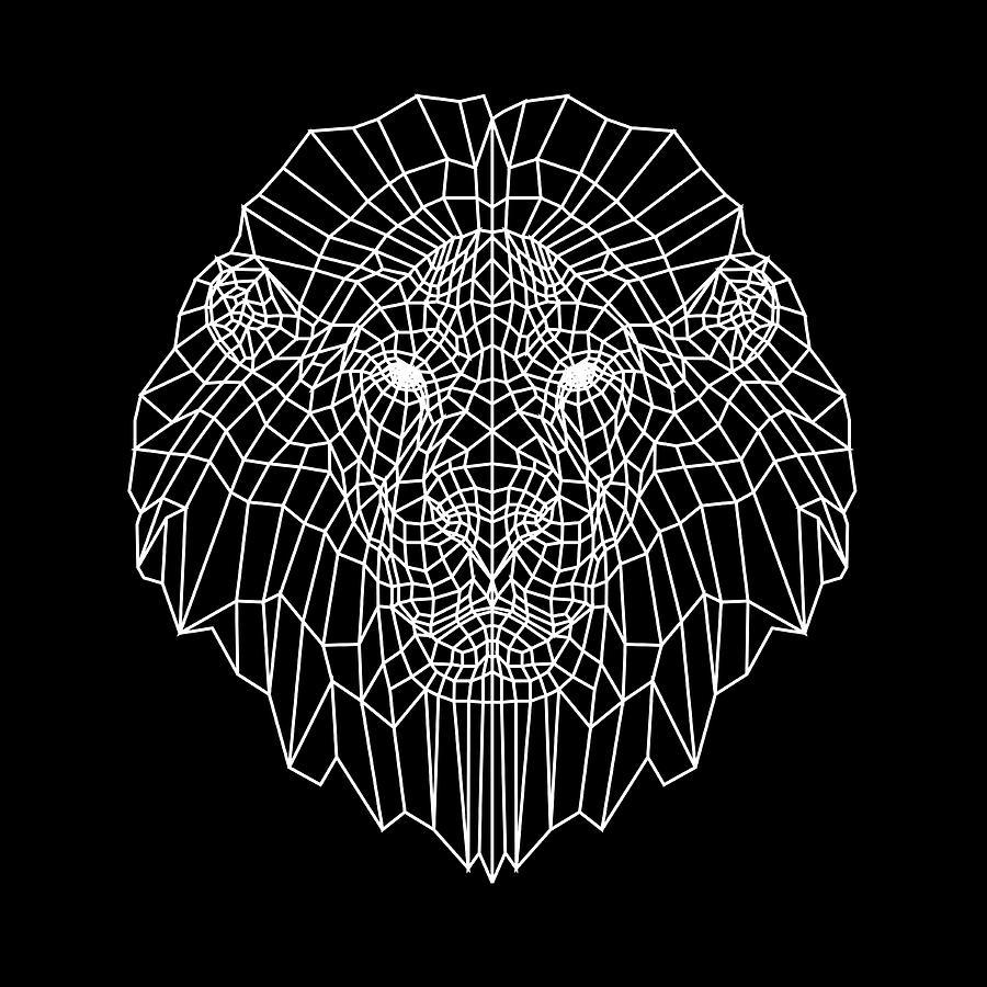 Lion Digital Art - Night Lion by Naxart Studio