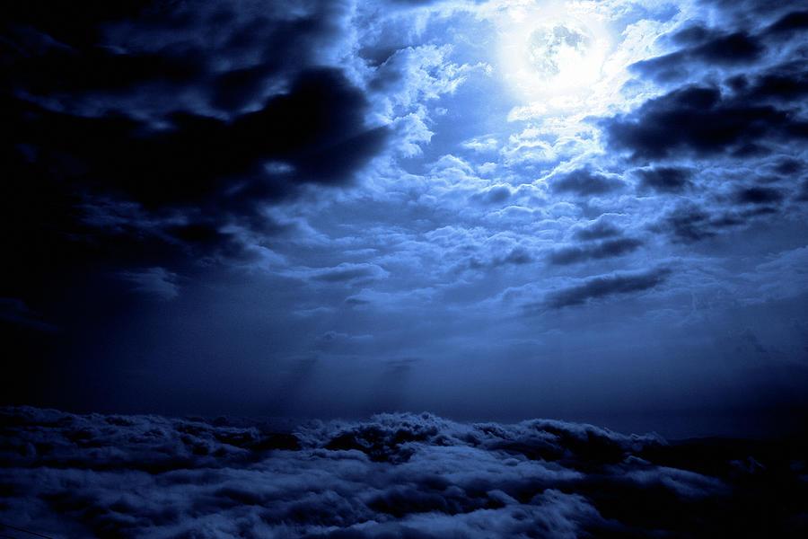 Night Sky And Moon Photograph by Mariusfm77