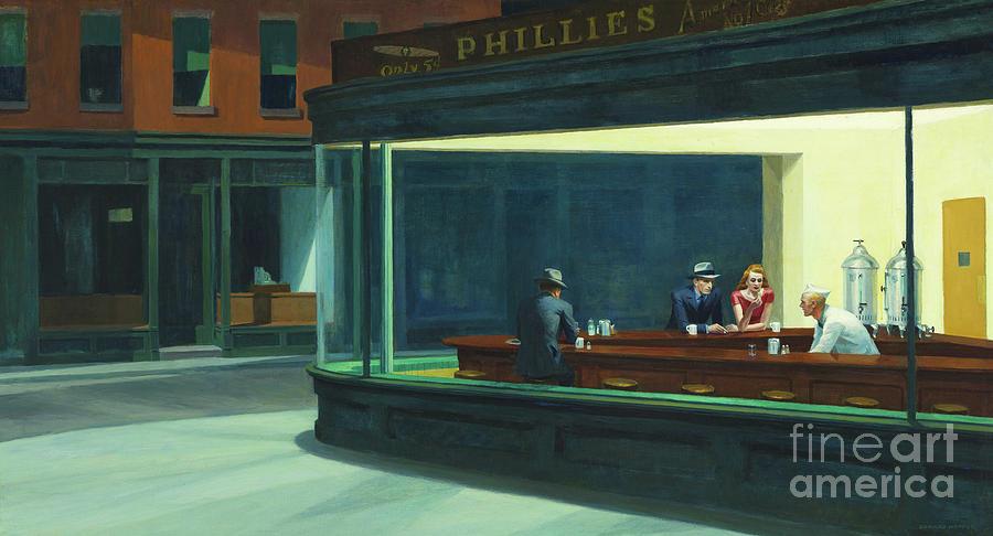 Hopper Painting - Nighthawks, 1942  by Edward Hopper