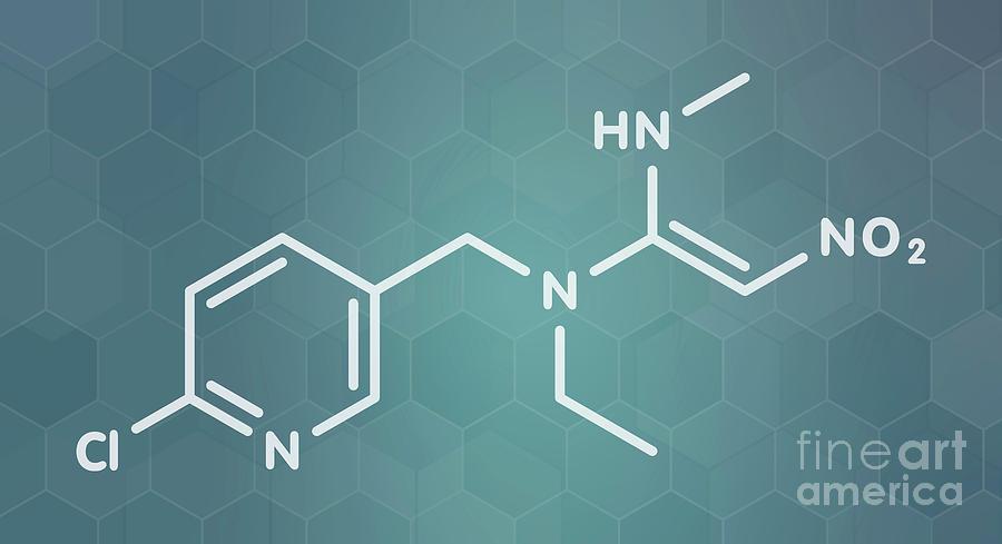 Insecticide Photograph - Nitenpyram Insecticide Molecule by Molekuul/science Photo Library