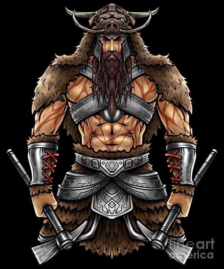 Norseman Berserker Viking Warrior Valhalla Odin