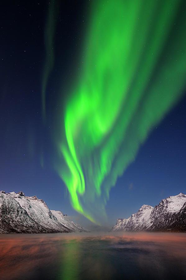 Northern Lights Aurora Borealis At A Photograph by Martin Ruegner