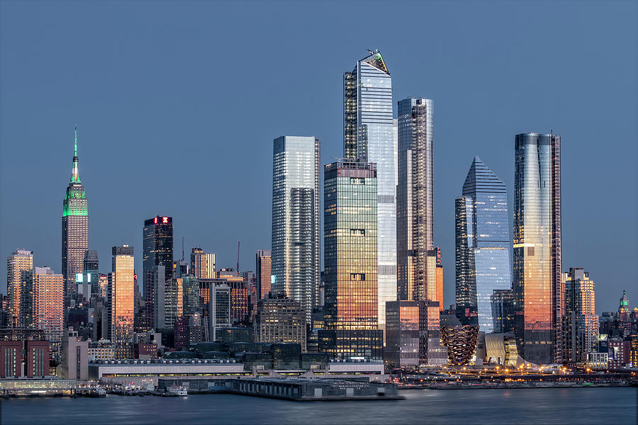 NYC Skyline Blue Hour by Susan Candelario